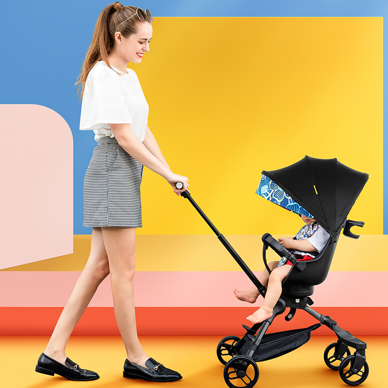 360 Degree Rotating Seat Light Weight Baby Stroller X3