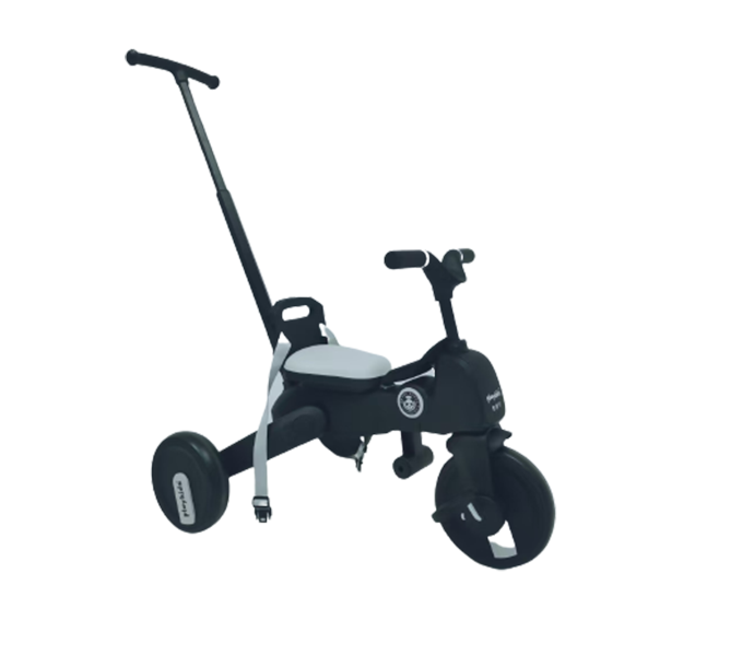 Kids tricycle with stroller bar