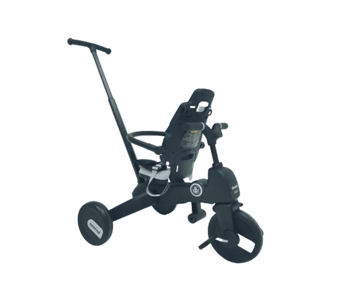 Kids tricycle with stroller bar and back reversing