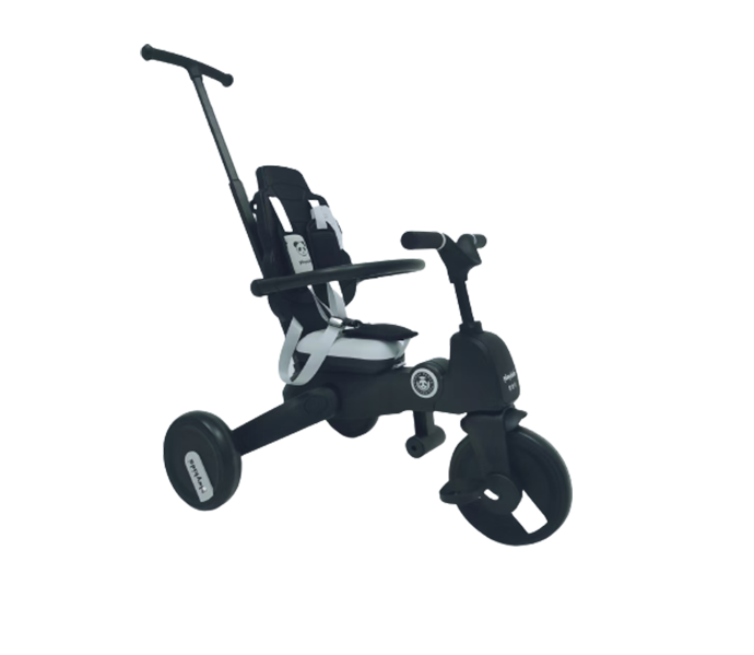 Kids tricycle with stroller bar and seat back